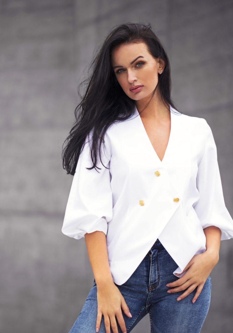 Chemise blanche croisée